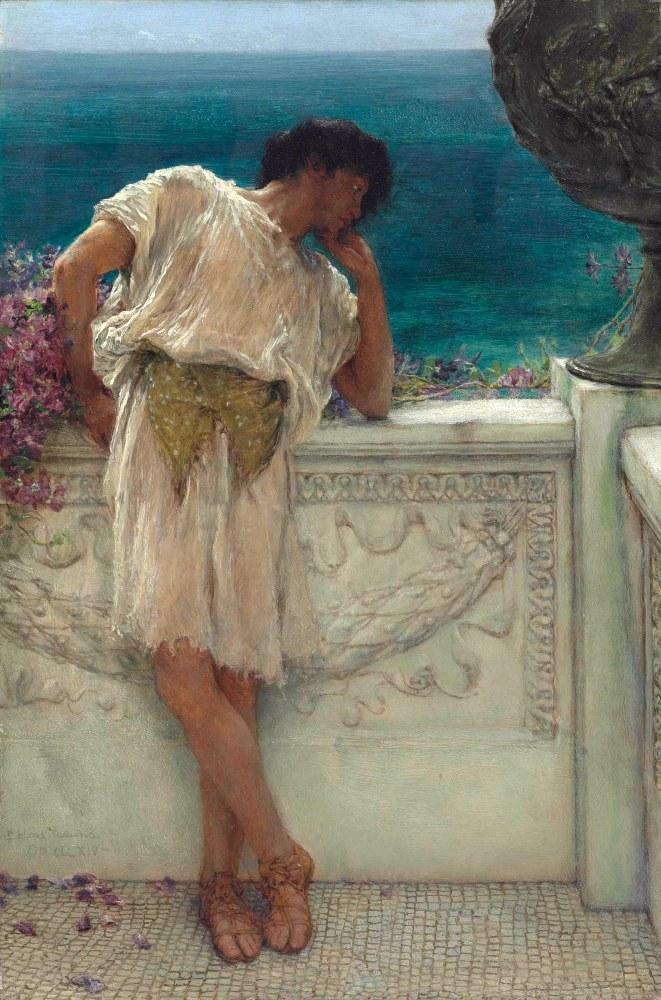 Şair Gallus Hayal Kurarken, Düşü, Lawrence Alma-Tadema, Kanvas Tablo, Lawrence Alma-Tadema, kanvas tablo, canvas print sales