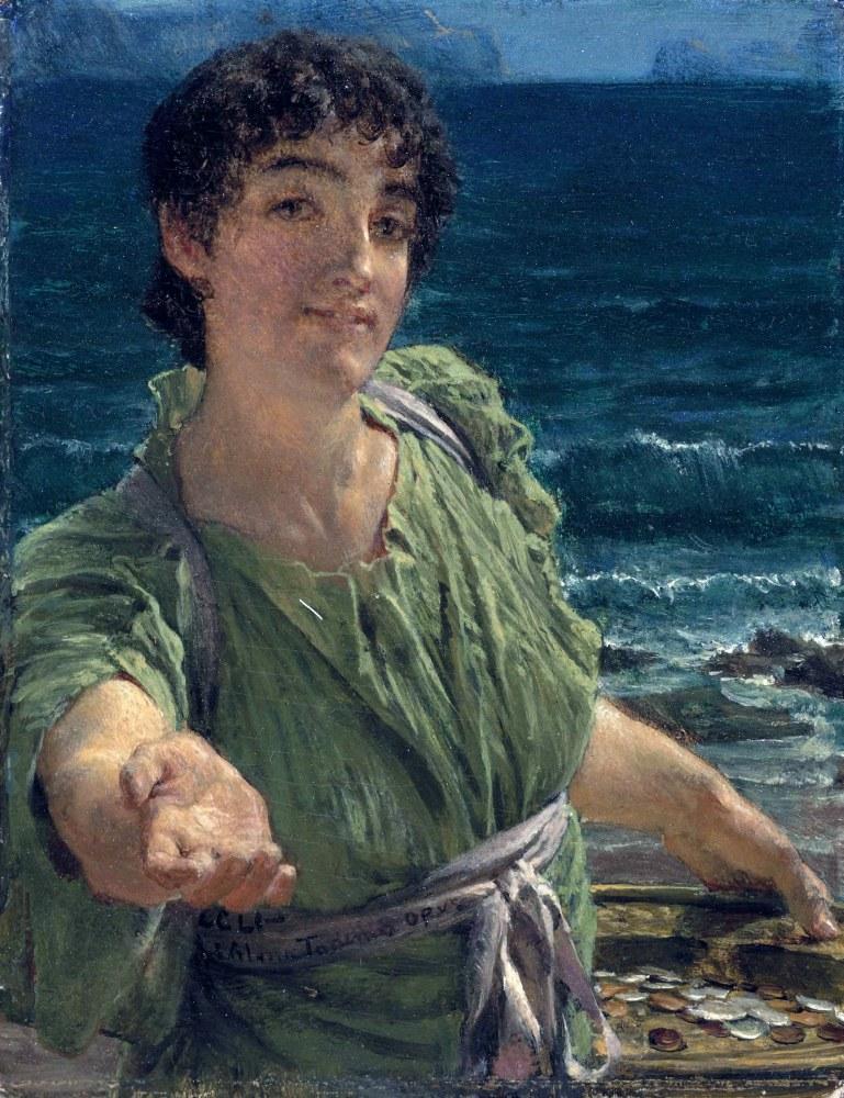 Una Carita, (A Face), Lawrence Alma-Tadema, Canvas, Lawrence Alma-Tadema, kanvas tablo, canvas print sales