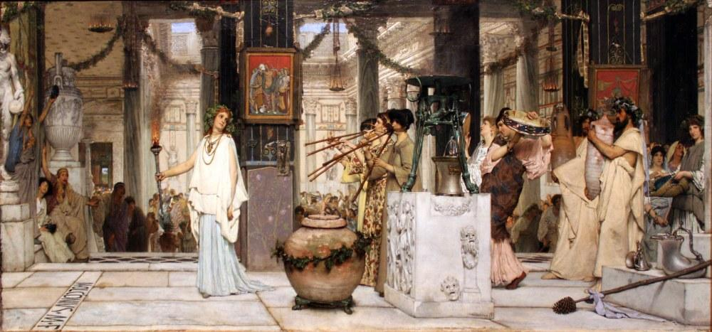 The Feast of The Vintage Anagoria, Lawrence Alma Tadema, Canvas, Lawrence Alma-Tadema, kanvas tablo, canvas print sales