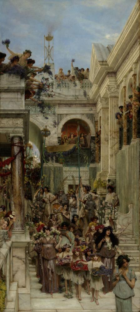 Bahar, Lawrence Alma Tadema, Kanvas Tablo, Lawrence Alma-Tadema