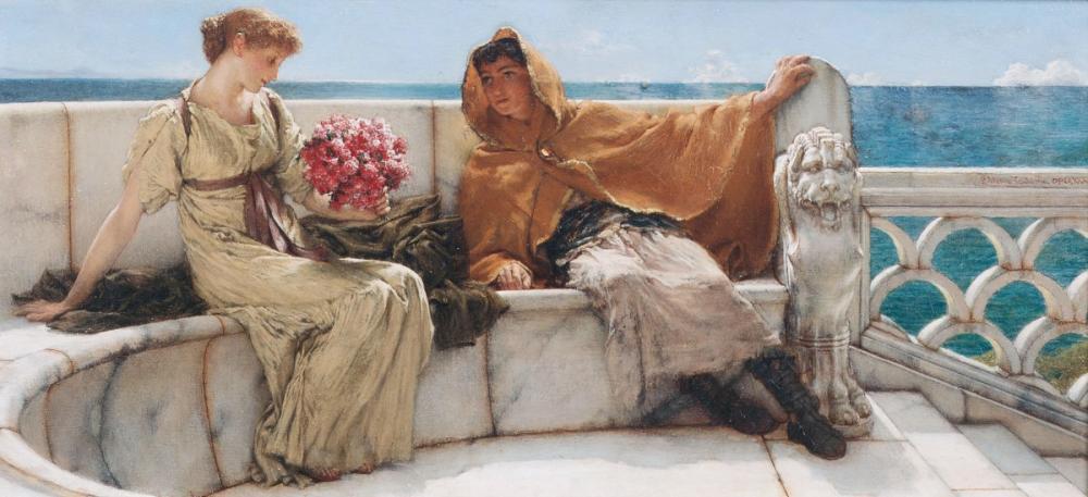 Amo Te, Ama Me (I Love You, Love Me), Lawrence Alma Tadema, Canvas, Lawrence Alma-Tadema, kanvas tablo, canvas print sales