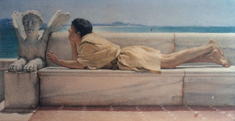 A Silent Counselor, Lawrence Alma Tadema, Canvas, Lawrence Alma-Tadema, kanvas tablo, canvas print sales