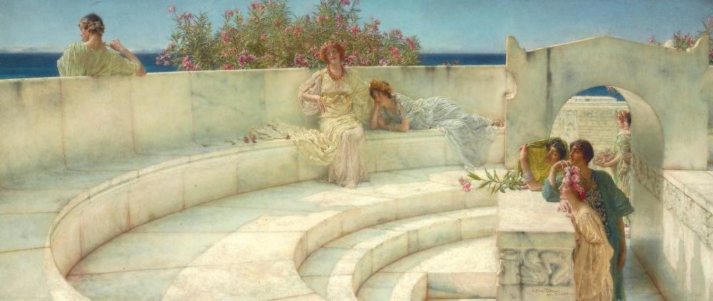 Mavi İyon Havası Altında, Lawrence Alma Tadema, Kanvas Tablo, Lawrence Alma-Tadema, kanvas tablo, canvas print sales