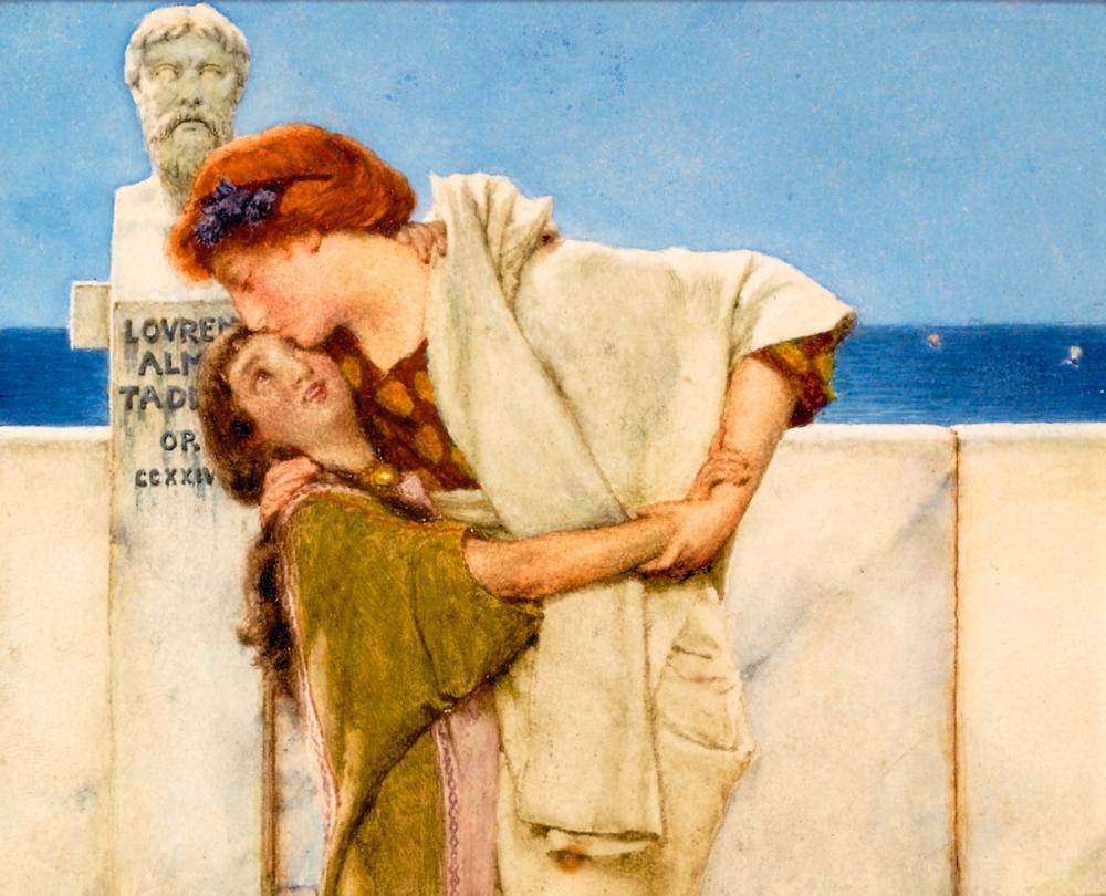 Motherly Love, Lawrence Alma-Tadema, Canvas, Lawrence Alma-Tadema, kanvas tablo, canvas print sales