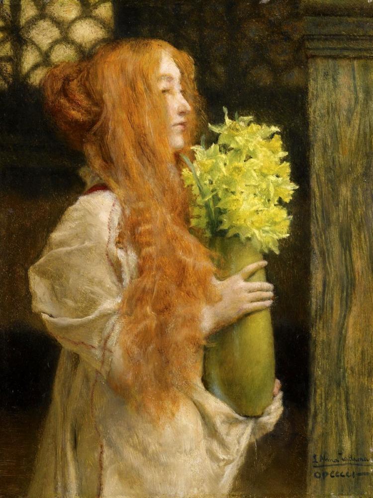 Spring Flowers, Lawrence Alma-Tadema, Canvas, Lawrence Alma-Tadema, kanvas tablo, canvas print sales