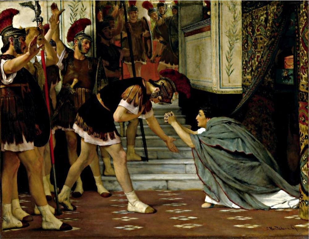 Claudius un İmprator İlan Edilmesi, Lawrence Alma-Tadema, Kanvas Tablo, Lawrence Alma-Tadema, kanvas tablo, canvas print sales