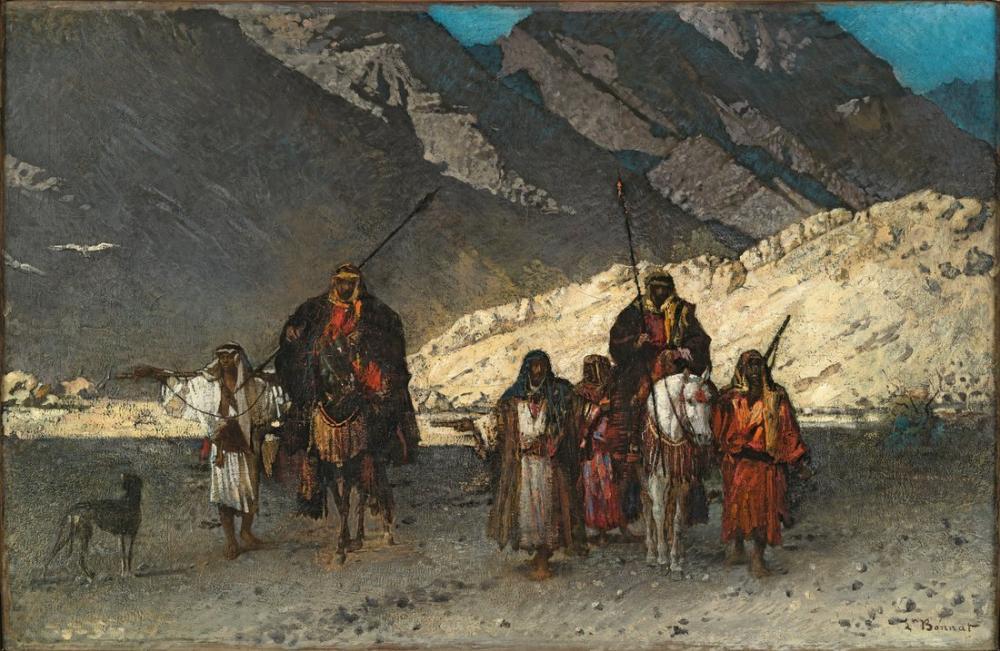 Leon Bonnat Cheikhs Arabes Dans Les Montagnes, Orientalist, Léon Bonnat, kanvas tablo, canvas print sales