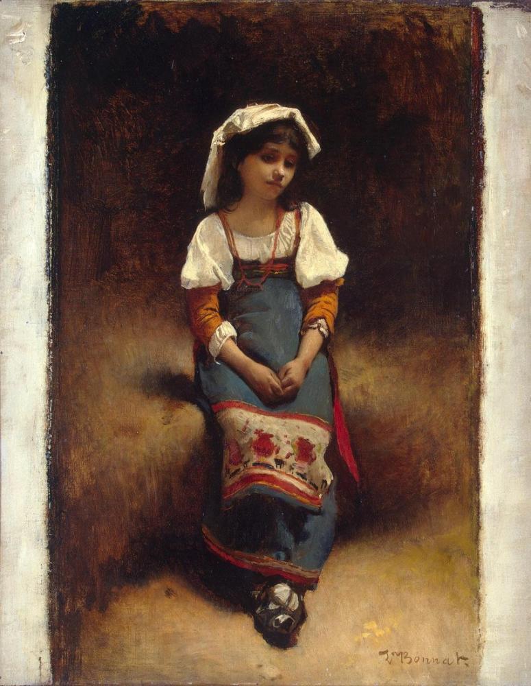 Leon Bonnat İtalyan Kadın, Kanvas Tablo, Léon Bonnat, kanvas tablo, canvas print sales