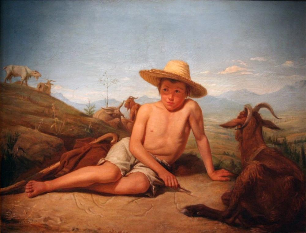 Leon Bonnat Keçi Tutmak Giotto, Kanvas Tablo, Léon Bonnat, kanvas tablo, canvas print sales