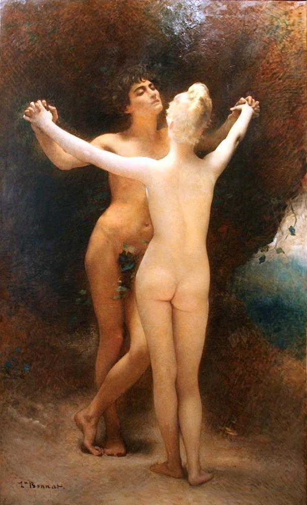 Leon Bonnat Idylle, Canvas, Léon Bonnat, kanvas tablo, canvas print sales