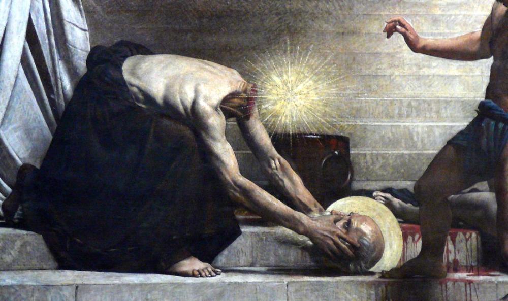 Leon Bonnat Martyre De Saint Denis, Canvas, Léon Bonnat, kanvas tablo, canvas print sales