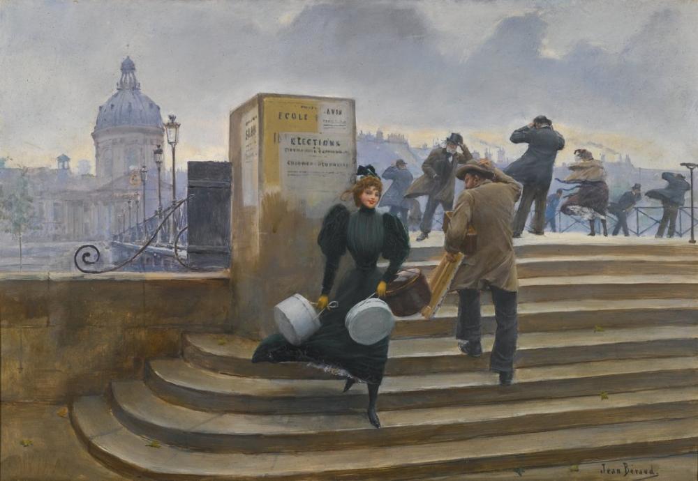 Leon Bonnat Modiste Sur Le Pont Des Arts, Canvas, Léon Bonnat, kanvas tablo, canvas print sales