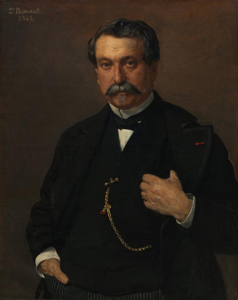 Leon Bonnat Portrait Of A Man, Canvas, Léon Bonnat, kanvas tablo, canvas print sales