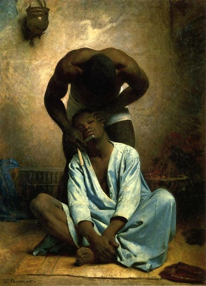 Leon Bonnat Süveyş Berberi, Oryantalist, Léon Bonnat, kanvas tablo, canvas print sales