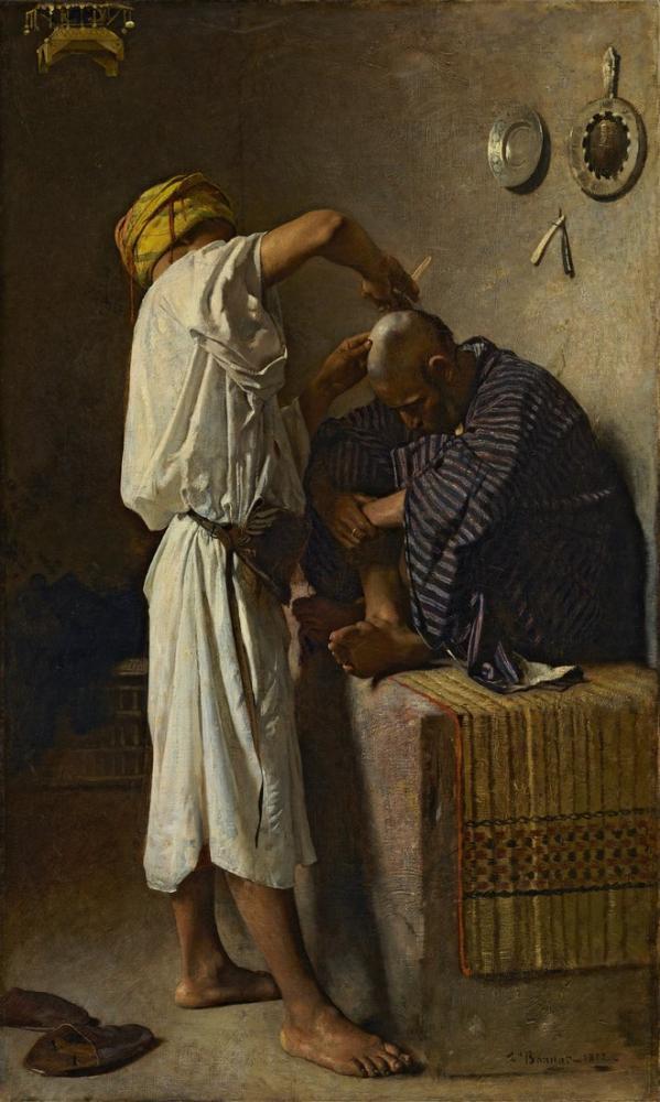 Leon Bonnat Oryantal Bir Kuaför, Oryantalist, Léon Bonnat, kanvas tablo, canvas print sales