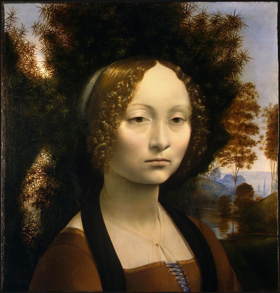 Ginevra de Benci, Leonardo da Vinci, Canvas, Leonardo Da Vinci, kanvas tablo, canvas print sales
