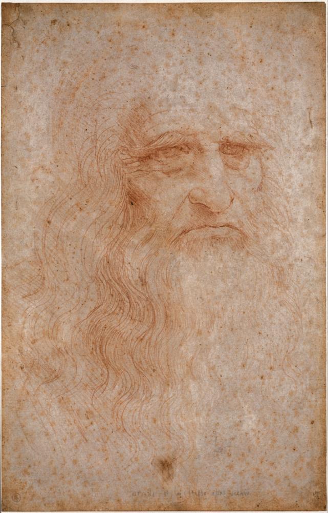 Kendi Portresi, Leonardo da Vinci, Kanvas Tablo, Leonardo Da Vinci, kanvas tablo, canvas print sales