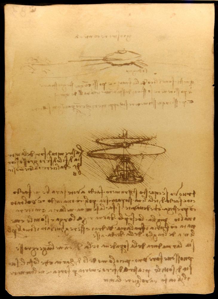Hava Vidası, Leonardo da Vinci, Kanvas Tablo, Leonardo Da Vinci, kanvas tablo, canvas print sales