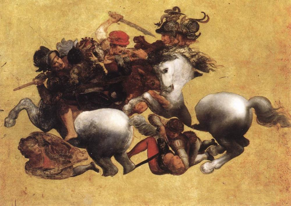 Leonardo Da Vinci, Battle of Anghiari, Kanvas Tablo, Leonardo Da Vinci, kanvas tablo, canvas print sales