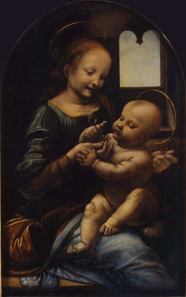 Madonna Benois, Leonardo da Vinci, Kanvas Tablo, Leonardo Da Vinci, kanvas tablo, canvas print sales