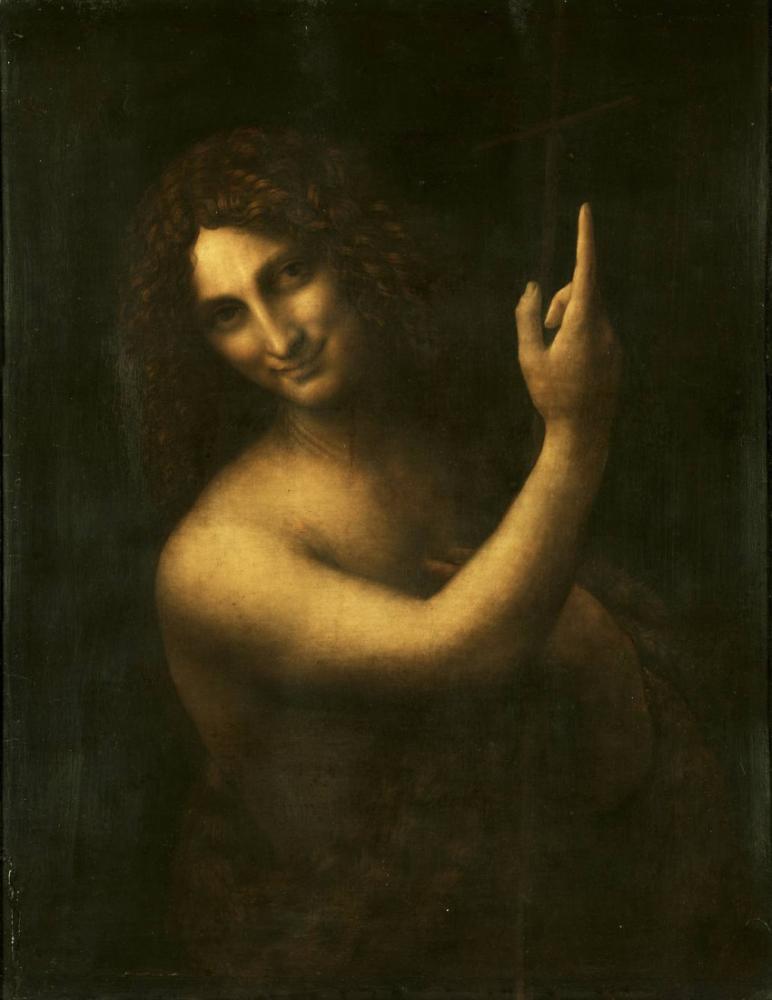 Vaftizci Aziz Yahya, Leonardo da Vinci, Kanvas Tablo, Leonardo Da Vinci, kanvas tablo, canvas print sales