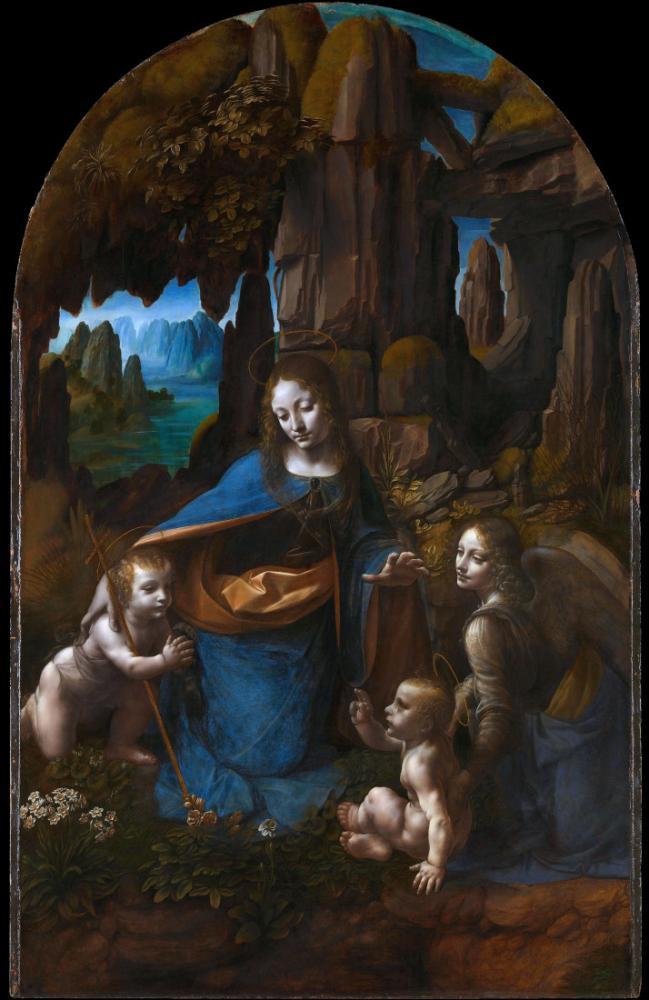 Virgin of the Rock, Leonardo da Vinci, Canvas, Leonardo Da Vinci, kanvas tablo, canvas print sales