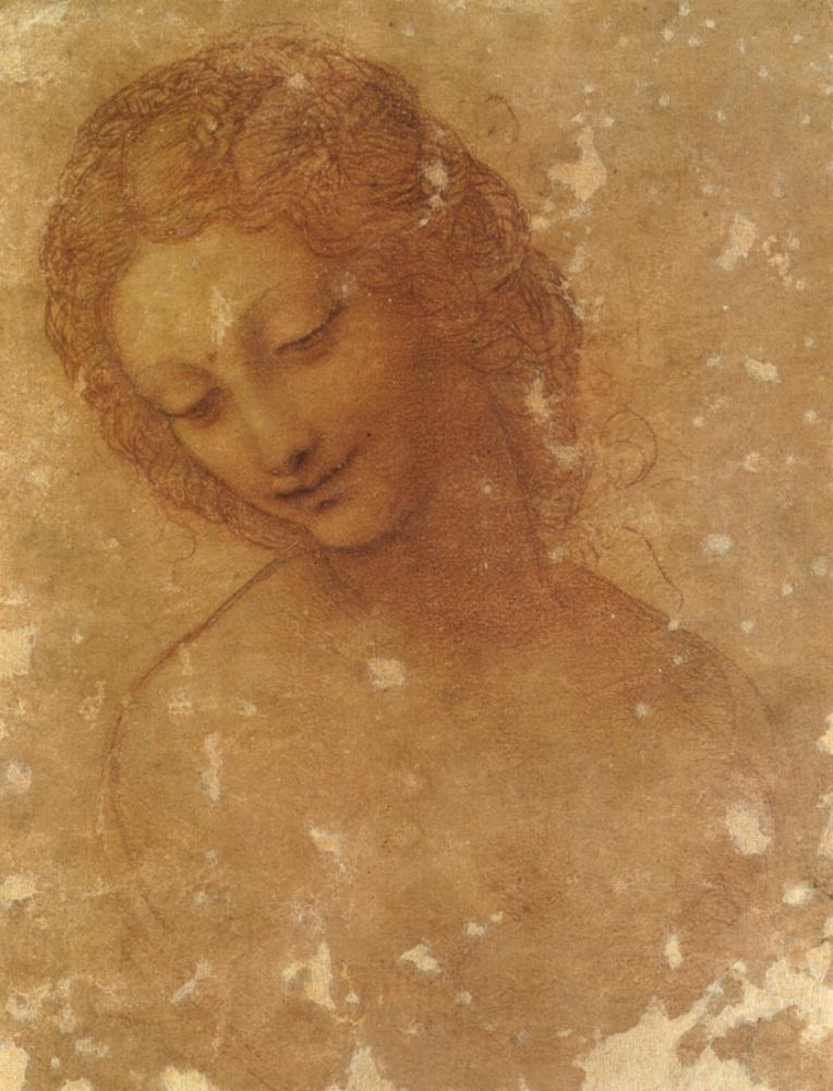 Head of Leda, Leonardo da Vinci, Canvas, Leonardo Da Vinci, kanvas tablo, canvas print sales