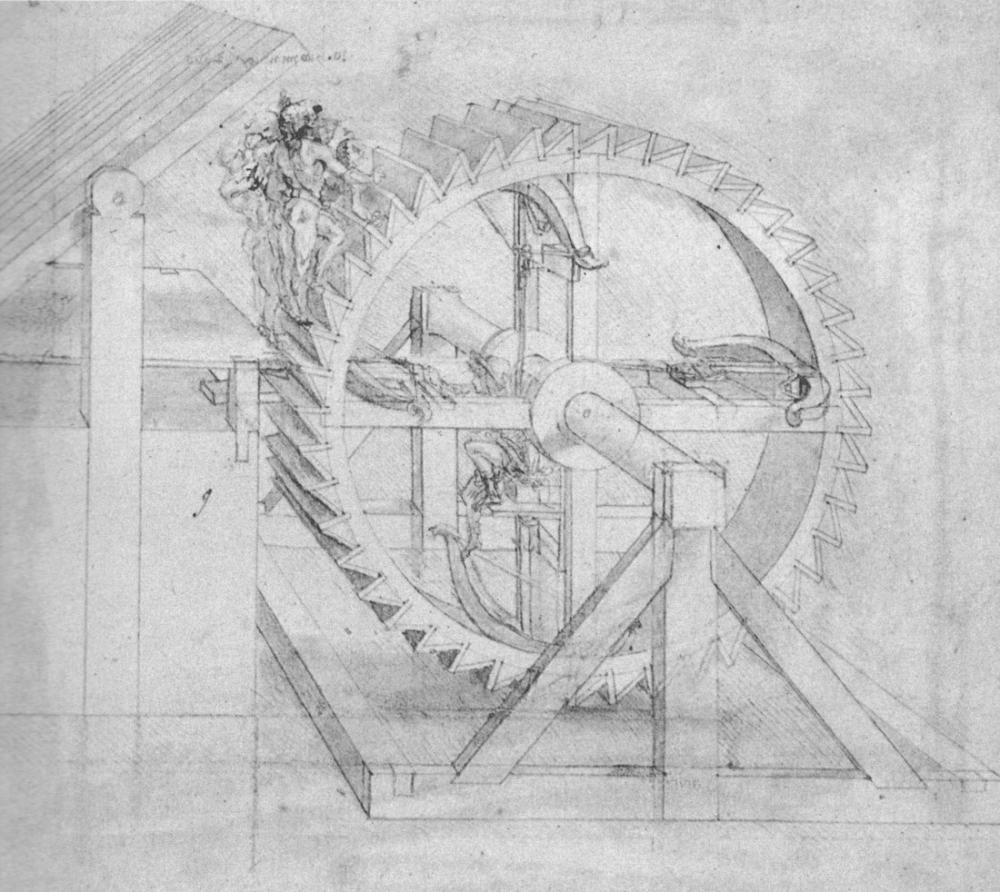 Leonardo da Vinci, Sonsuz Vida Dişlisi, Kanvas Tablo, Leonardo Da Vinci, kanvas tablo, canvas print sales