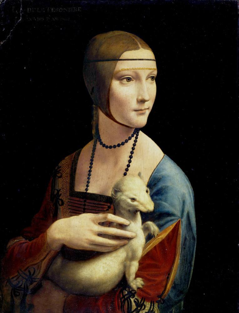 The Lady with an Ermine, Leonardo da Vinci, Canvas, Leonardo Da Vinci, kanvas tablo, canvas print sales