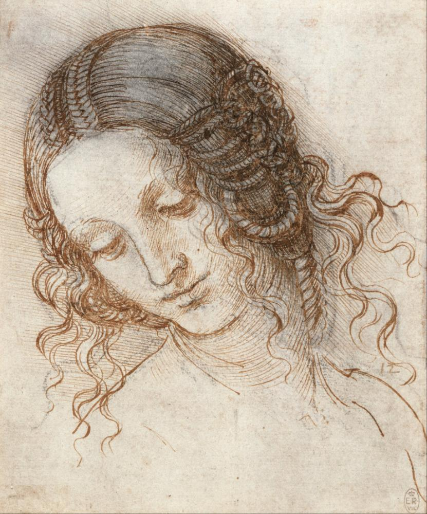 Leda nın Başı, Leonardo da Vinci, Kanvas Tablo, Leonardo Da Vinci, kanvas tablo, canvas print sales