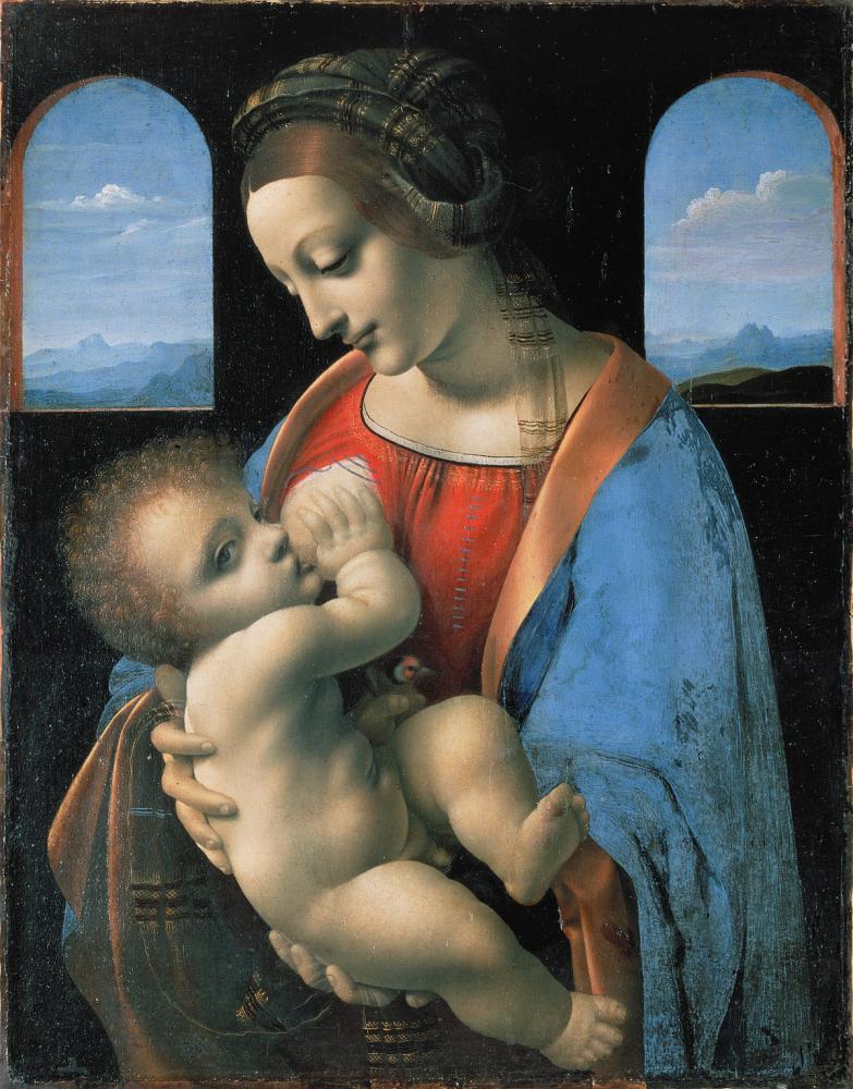 Leonardo Da Vinci Madonna Litta, Kanvas Tablo, Leonardo Da Vinci, kanvas tablo, canvas print sales