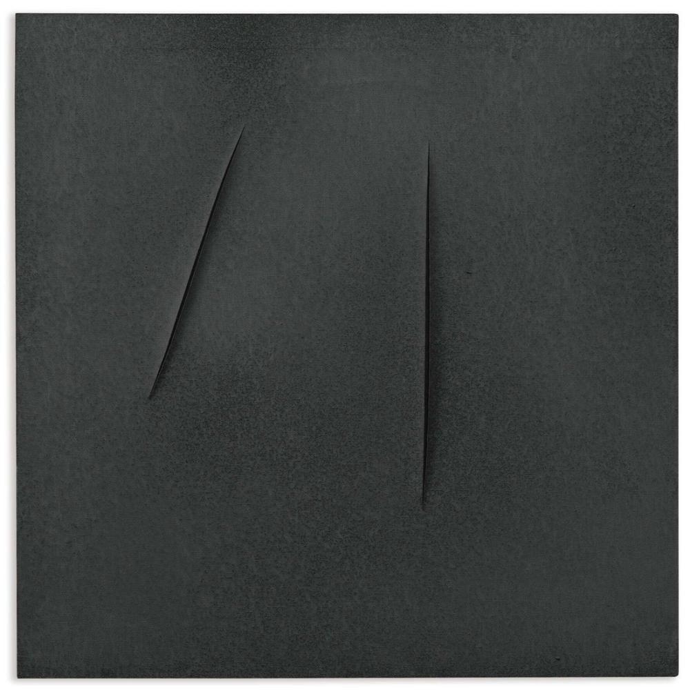 Lucio Fontana, Concetto Spaziale, Attese Siyah, Kanvas Tablo, Lucio Fontana, kanvas tablo, canvas print sales