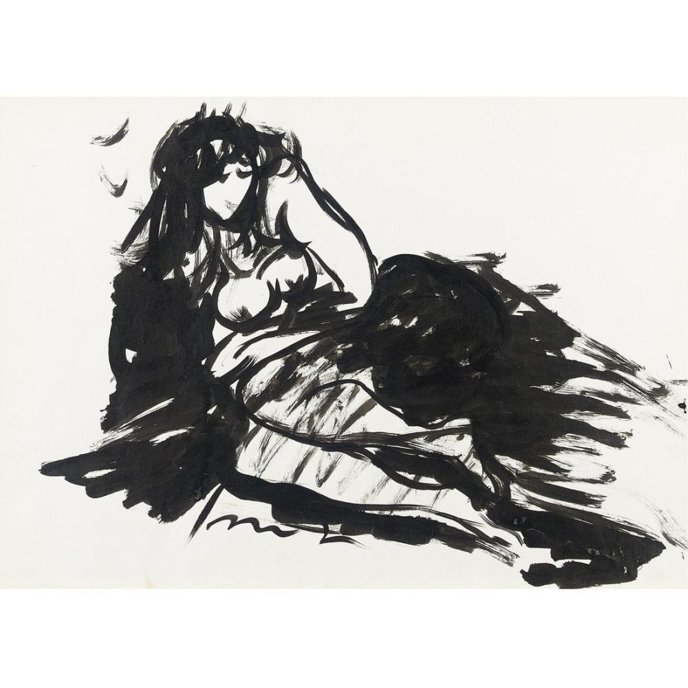 Lucio Fontana, Nudo femminile 5, Figür, Lucio Fontana, kanvas tablo, canvas print sales