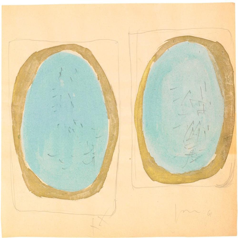 Lucio Fontana, Concetto Spaziale, Due Studi, Kanvas Tablo, Lucio Fontana, kanvas tablo, canvas print sales