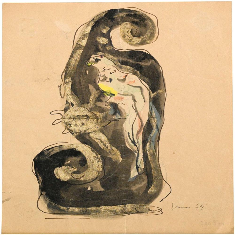 Lucio Fontana, Studio per Ceramica, Kanvas Tablo, Lucio Fontana, kanvas tablo, canvas print sales