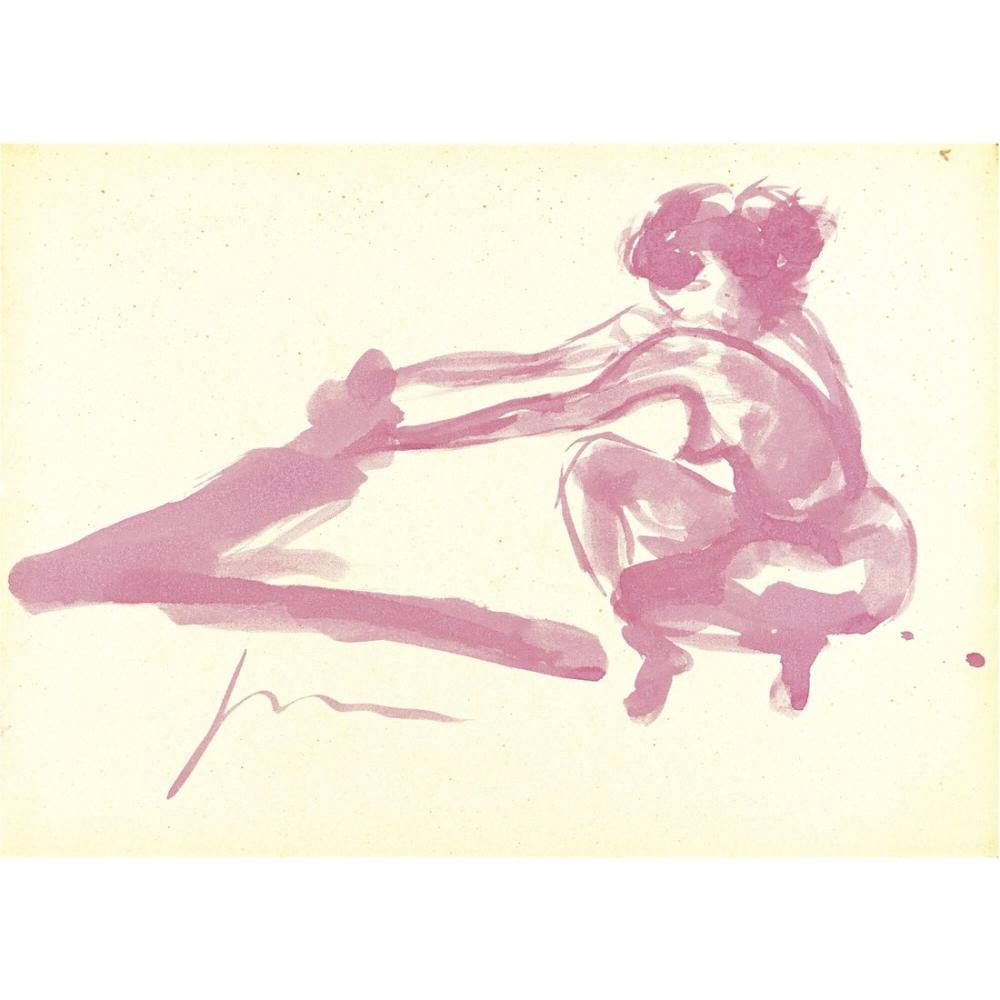 Lucio Fontana, Figura Sui Talloni, Figür, Lucio Fontana, kanvas tablo, canvas print sales