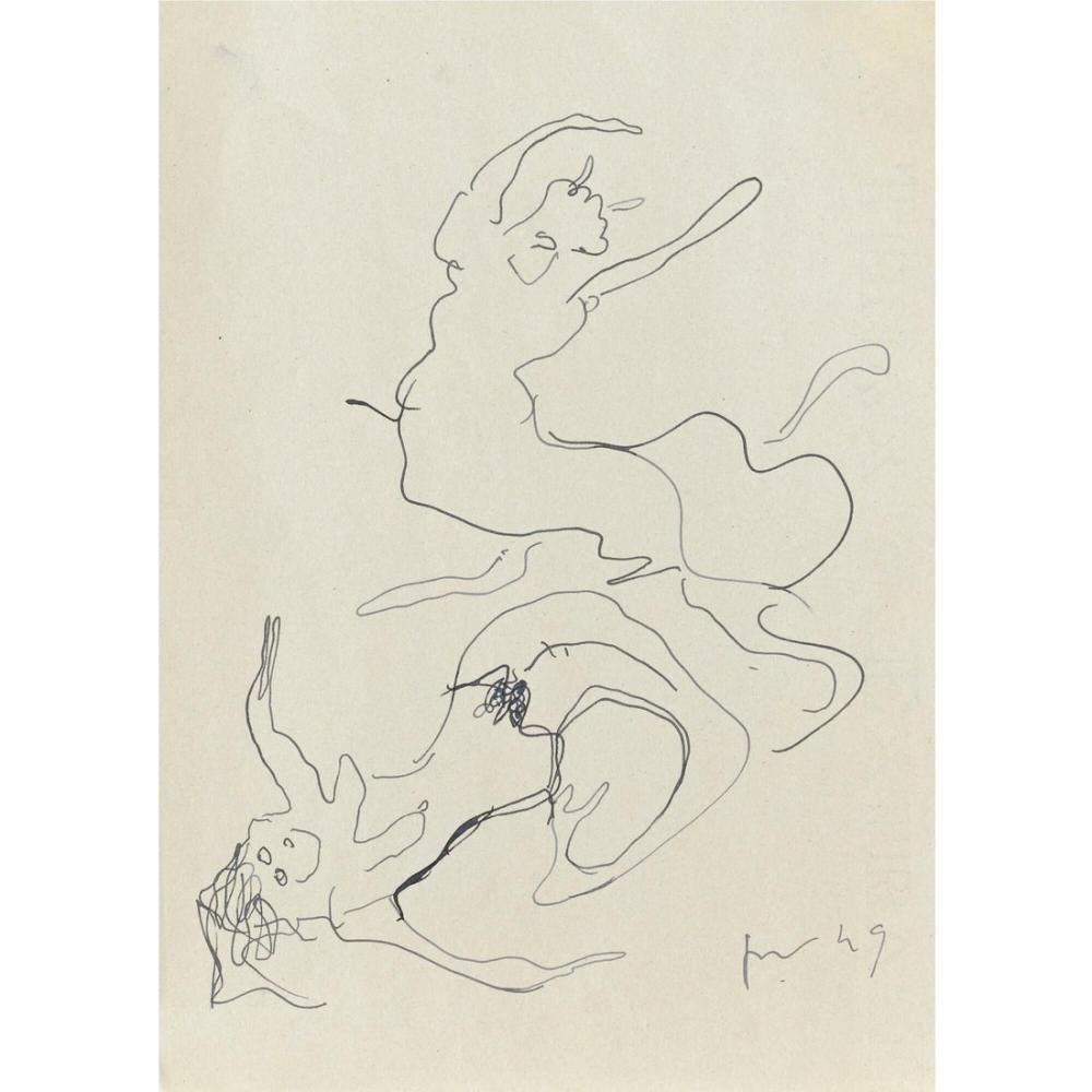 Lucio Fontana, Sirena e Centauro, Kanvas Tablo, Lucio Fontana, kanvas tablo, canvas print sales