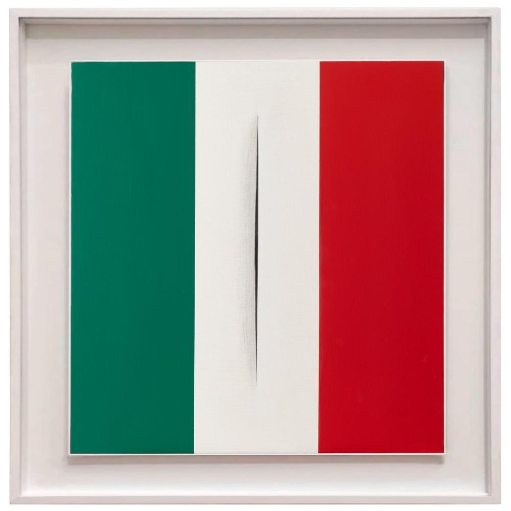 Lucio Fontana, L italia Siamo Noi Omaggio A Lucio Fontana, Kanvas Tablo, Lucio Fontana, kanvas tablo, canvas print sales