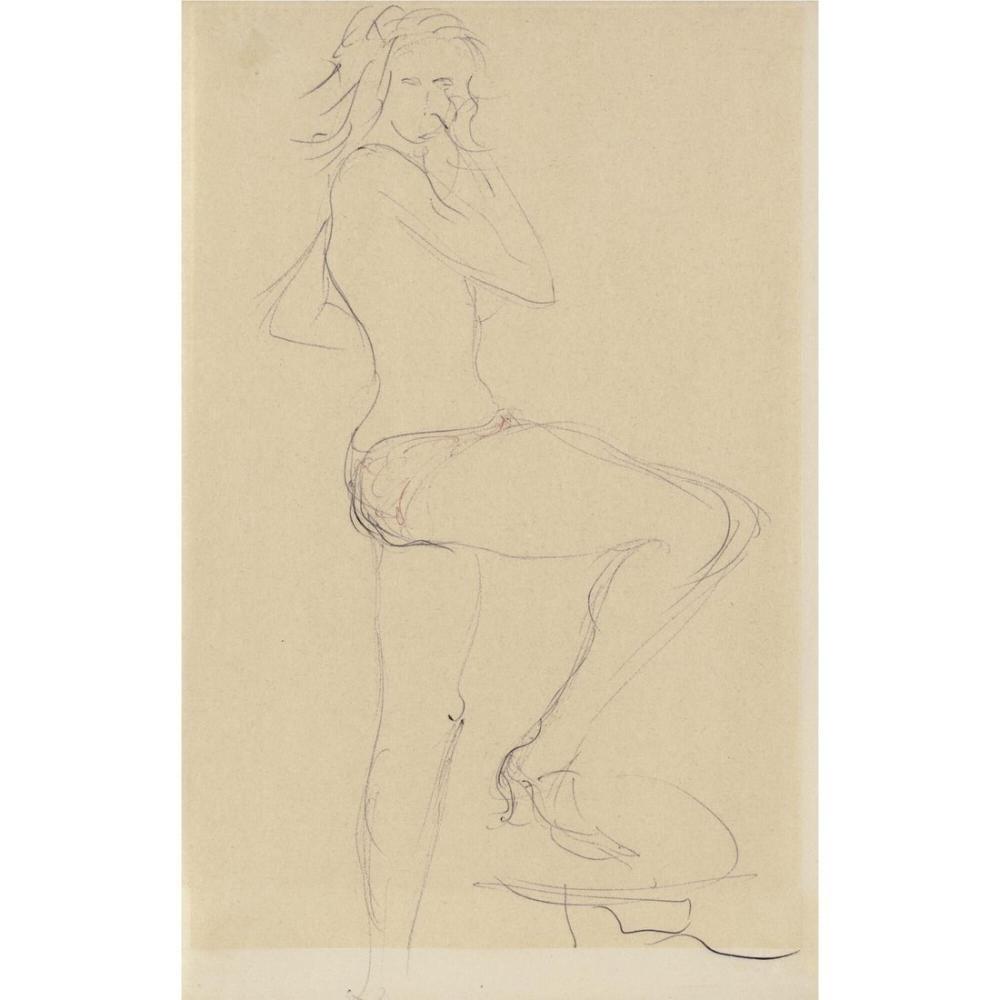 Lucio Fontana, Nudo femminile 6, Figure, Lucio Fontana, kanvas tablo, canvas print sales