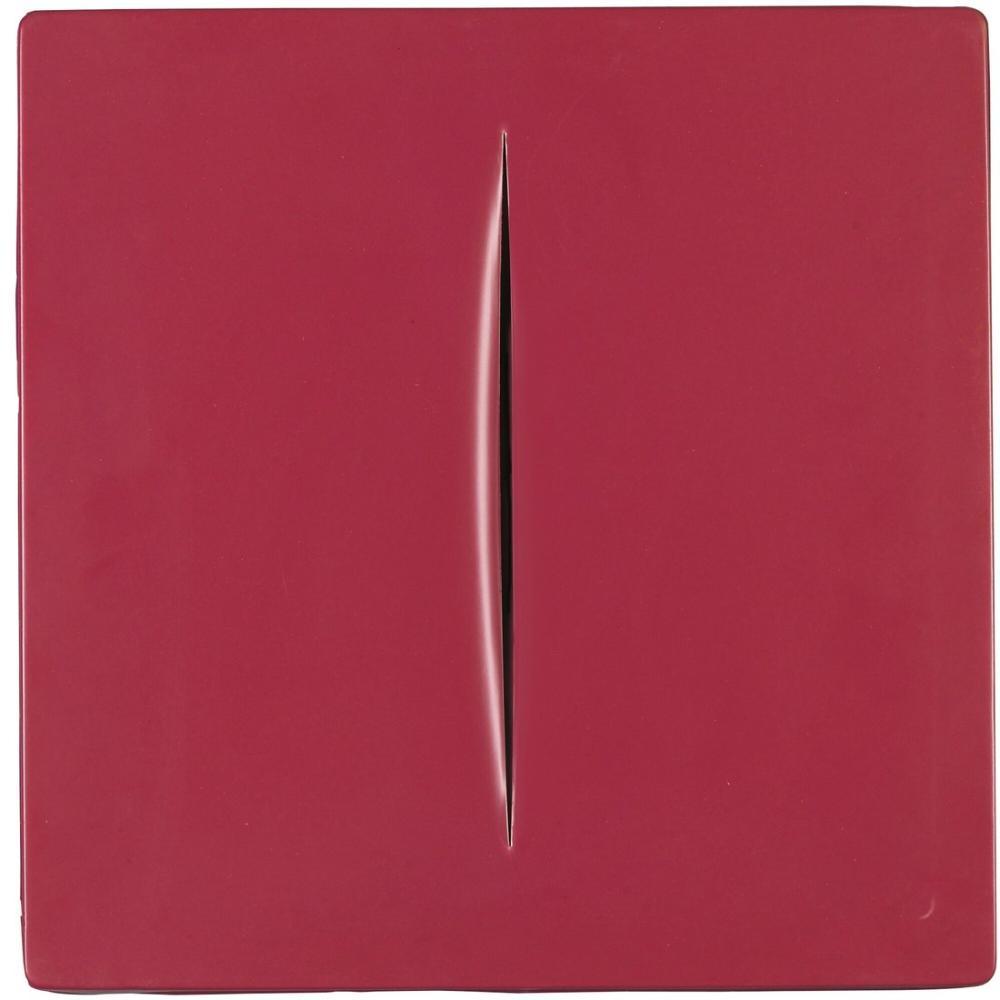 Lucio Fontana, Concetto Spaziale, Rosso, Kanvas Tablo, Lucio Fontana, kanvas tablo, canvas print sales