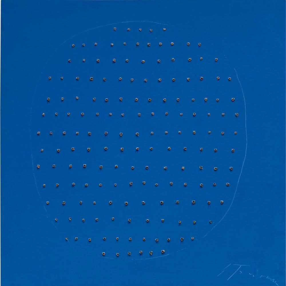 Lucio Fontana, Concetto Spaziale, Mavi, Kanvas Tablo, Lucio Fontana, kanvas tablo, canvas print sales