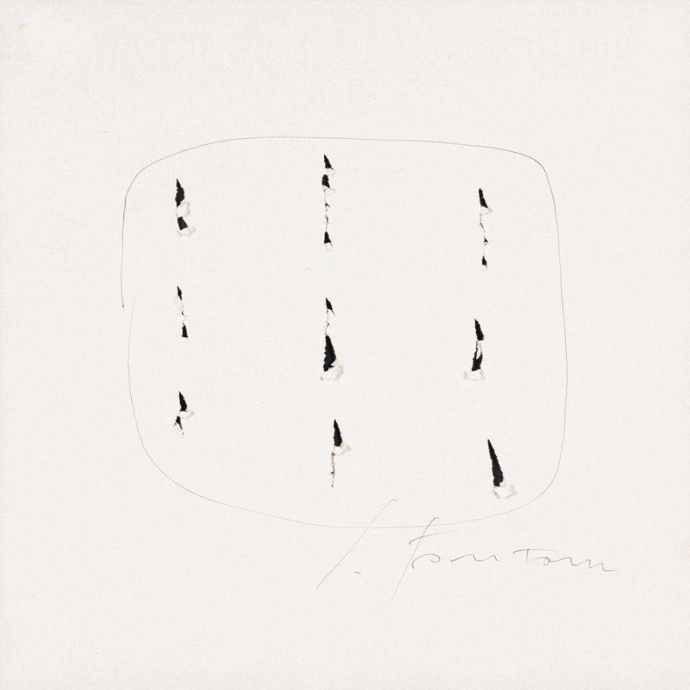 Lucio Fontana, Ears And Ink, Kanvas Tablo, Lucio Fontana, kanvas tablo, canvas print sales