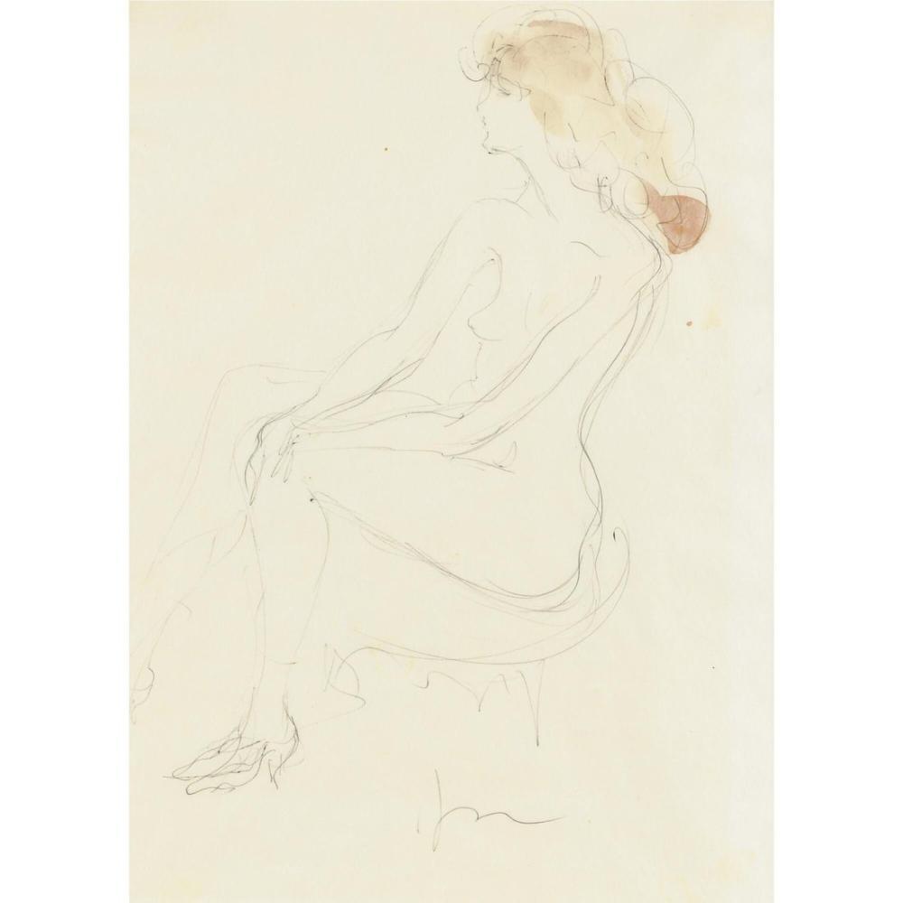 Lucio Fontana, Nudo femminile 7, Figür, Lucio Fontana, kanvas tablo, canvas print sales