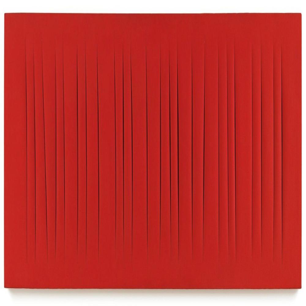 Lucio Fontana, Concetto Spaziale, Attese, Kırmızı 15, Kanvas Tablo, Lucio Fontana, kanvas tablo, canvas print sales