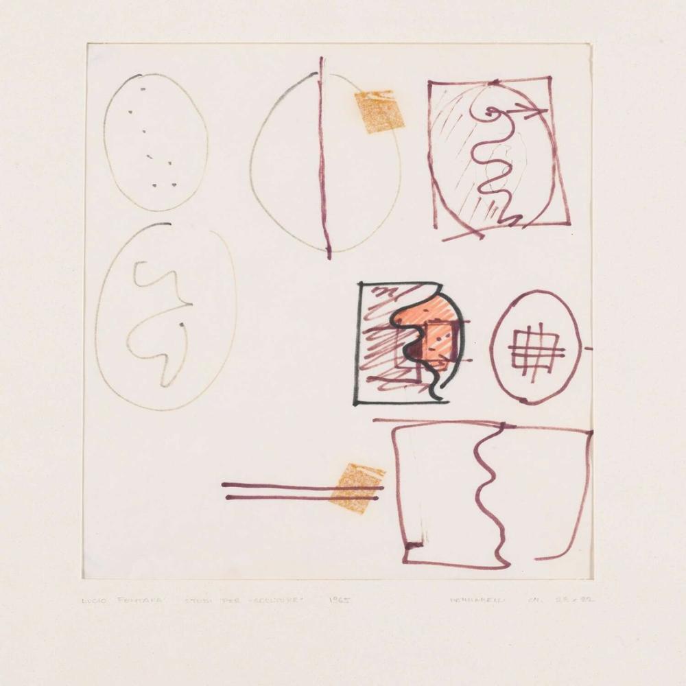 Lucio Fontana, Studi Per Concetto Spaziale, Kanvas Tablo, Lucio Fontana, kanvas tablo, canvas print sales