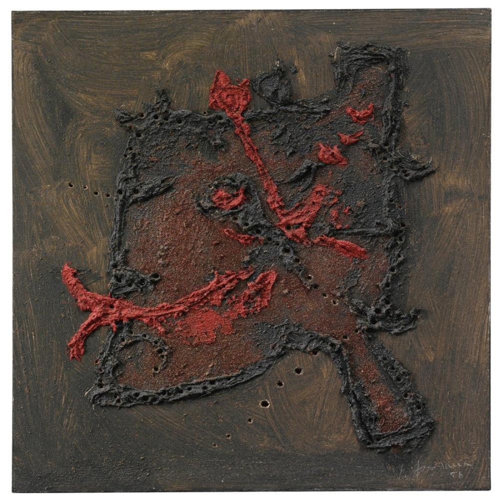 Lucio Fontana, Sand and Glitter, Kanvas Tablo, Lucio Fontana, kanvas tablo, canvas print sales