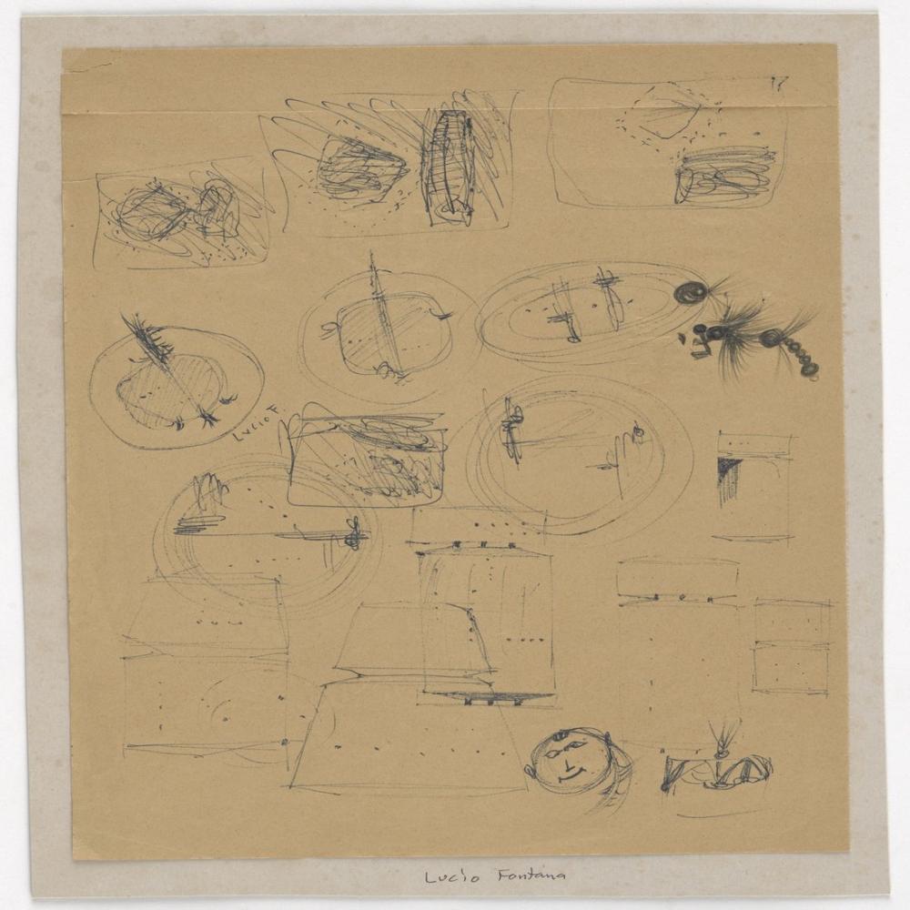 Lucio Fontana, Studi Vari, Kanvas Tablo, Lucio Fontana, kanvas tablo, canvas print sales
