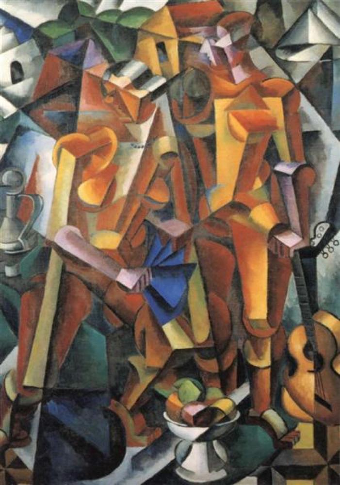 Lyubov Popova Composition With Figures, Canvas, Lyubov Popova, kanvas tablo, canvas print sales