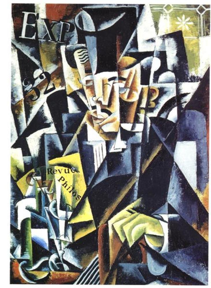 Lyubov Popova Portrait Of A Philosopher, Canvas, Lyubov Popova