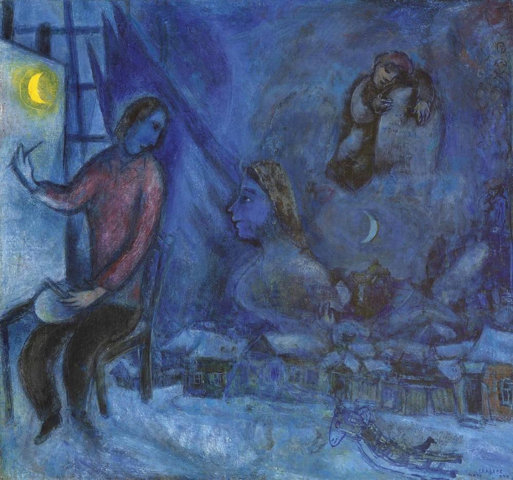 Marc Chagall Geçmişe Haraç, Figür, Marc Chagall, kanvas tablo, canvas print sales